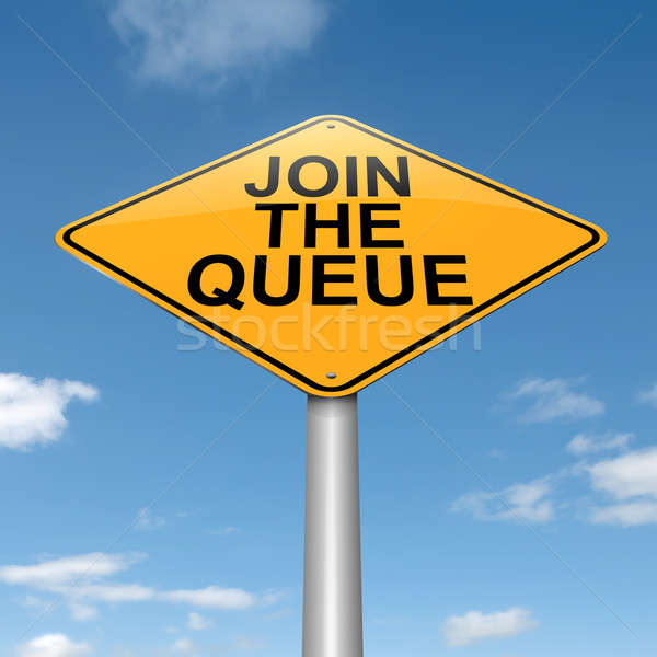 Join the queue. Stock photo © 72soul