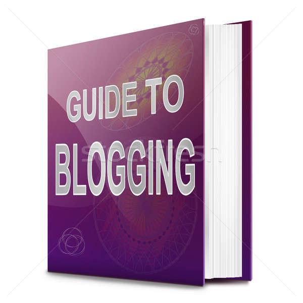 Blogging guider illustration livre titre blanche Photo stock © 72soul