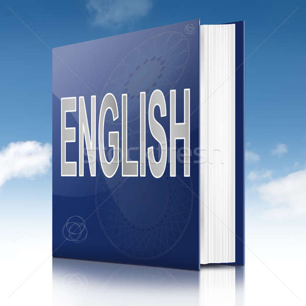 Stock photo: English text book.