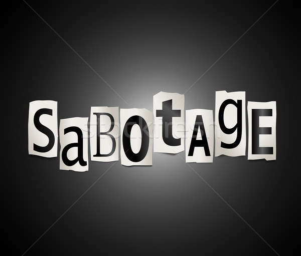 Sabotage concept. Stock photo © 72soul