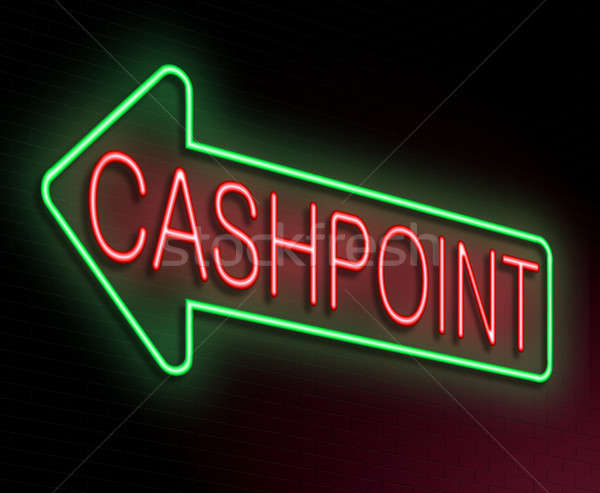 Cashpoint concept. Stock photo © 72soul