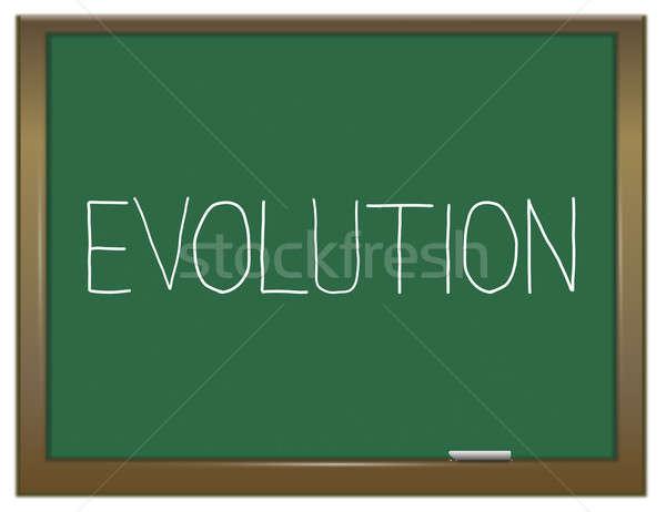 évolution illustration vert tableau éducation histoire Photo stock © 72soul