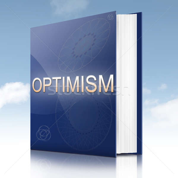 Optimisme livre illustration texte titre fond Photo stock © 72soul