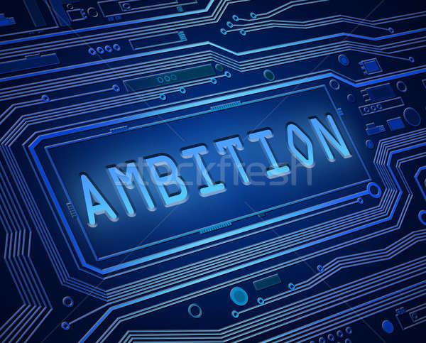 Ambição tecnologia abstrato estilo ilustração Foto stock © 72soul