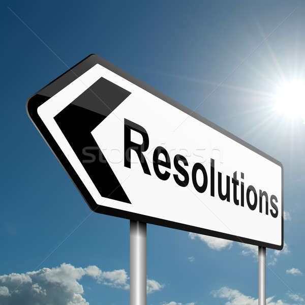 Resolutions concept. Stock photo © 72soul