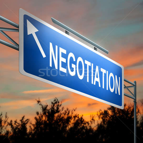 Negotiation concept. Stock photo © 72soul