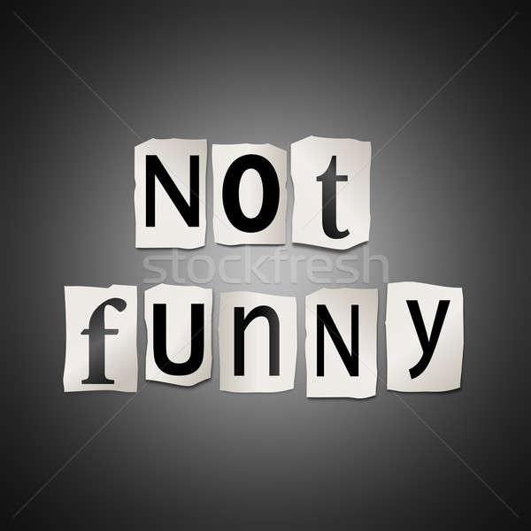 Değil komik örnek basılı harfler Stok fotoğraf © 72soul
