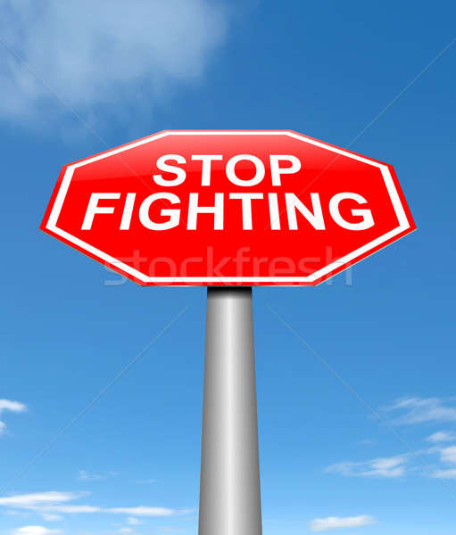 Stop fighting concept. Stock photo © 72soul