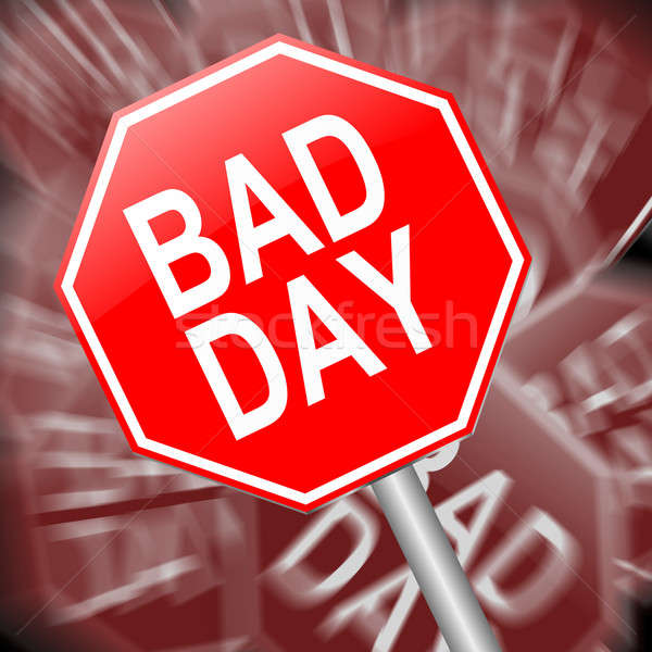 Stock photo: Bad day concept.
