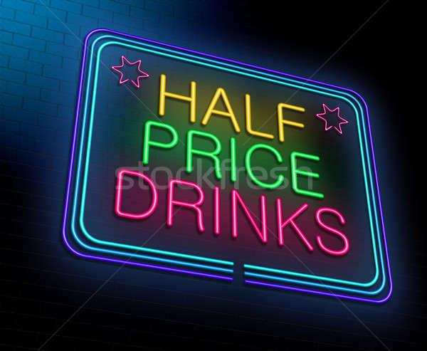дешево алкоголя иллюстрация ночь Сток-фото © 72soul