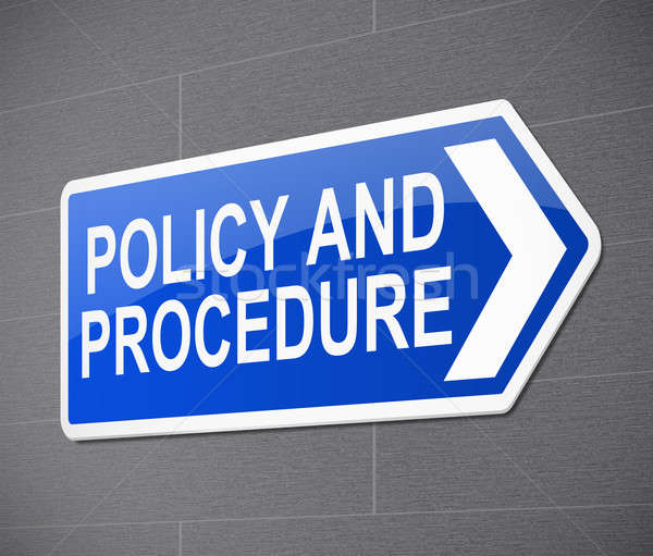 Policy and procedure concept. Stock photo © 72soul