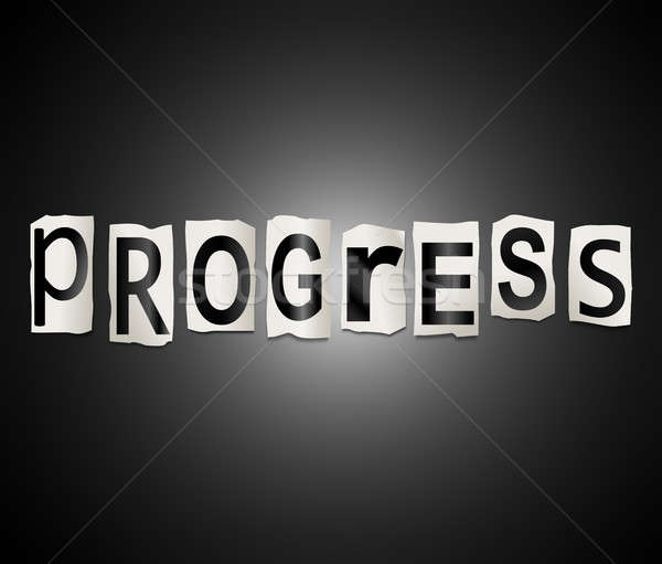 Progress word concept. Stock photo © 72soul