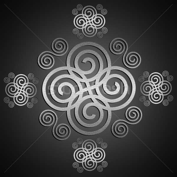 Dekoracyjny celtic projektu cyfrowe metaliczny Zdjęcia stock © 72soul