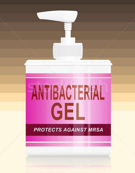 Antibacteriële gel illustratie warm pastel kleur Stockfoto © 72soul