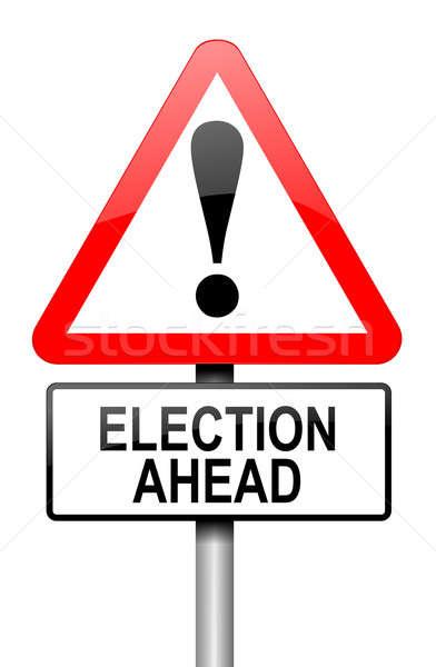 élection illustration route panneau de signalisation blanche fête Photo stock © 72soul