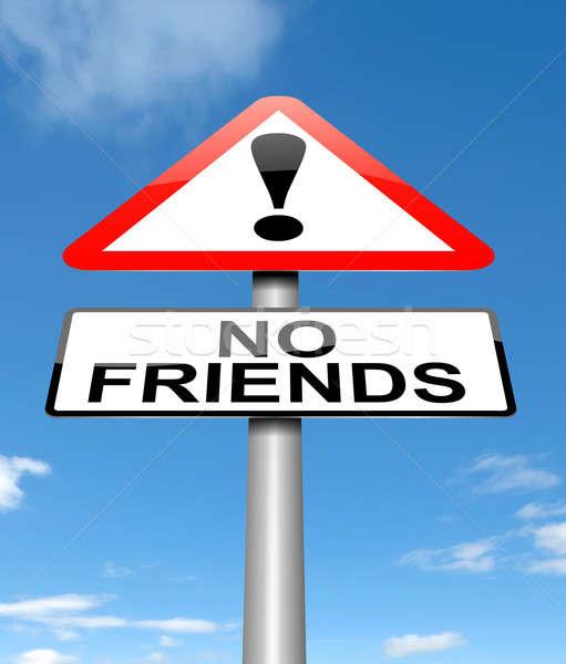 No friends concept. Stock photo © 72soul