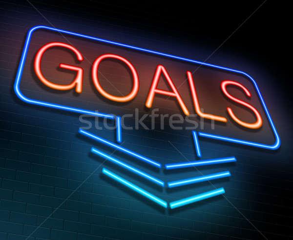 Goal concept. Stock photo © 72soul