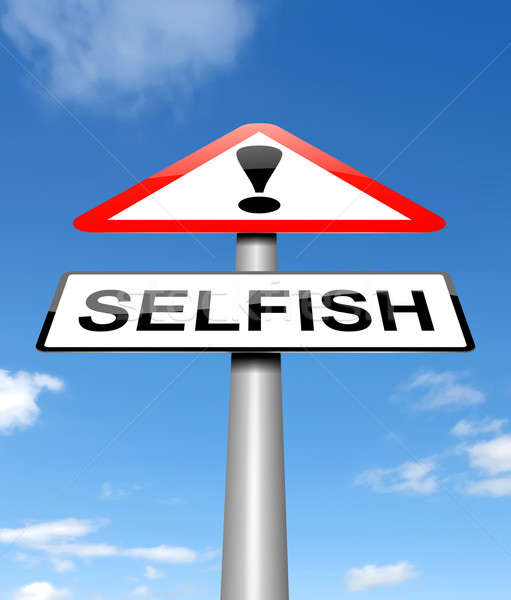 Selfish concept. Stock photo © 72soul