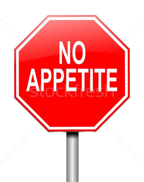 Nem étvágy illusztráció felirat piros grafikus Stock fotó © 72soul