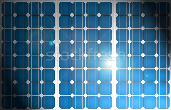 Zonne-energie patroon illustratie zonnepanelen uniform formatie Stockfoto © 72soul
