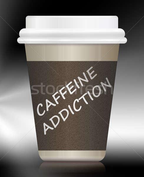 Kofeina ilustracja kawy na zewnątrz Zdjęcia stock © 72soul