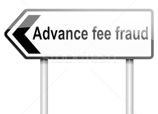 Fraude illustration route panneau de signalisation blanche Photo stock © 72soul