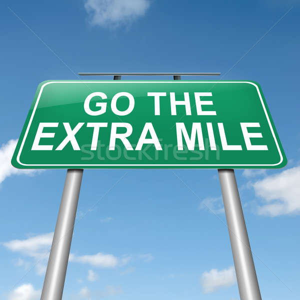 Stock photo: Go the extra mile.