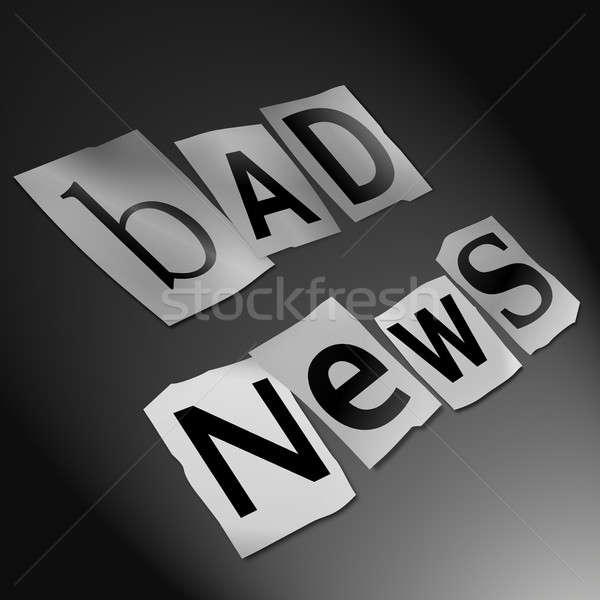 悪い知らせ 実例 カットアウト 印刷 文字 フォーム ストックフォト © 72soul