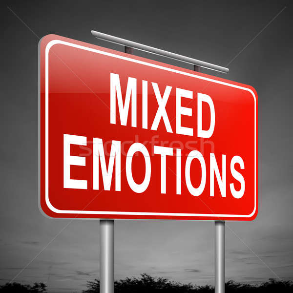 Mixed emotions concept. Stock photo © 72soul