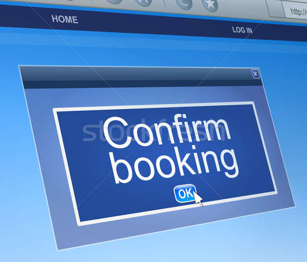 Confirm booking concept. Stock photo © 72soul