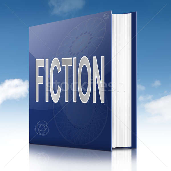Fiction illustration livre titre ciel fond Photo stock © 72soul