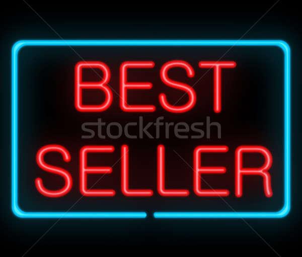 Besten Verkäufer Illustration neon Beschilderung Business Stock foto © 72soul