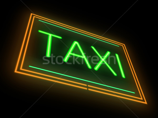 Neon taxi sign. Stock photo © 72soul