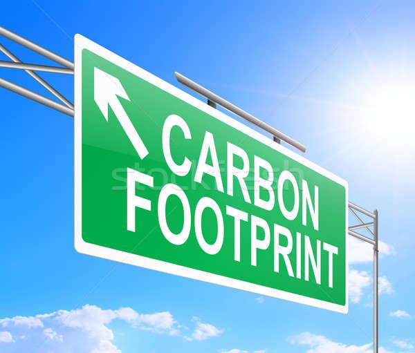 Carbon footprint concept. Stock photo © 72soul