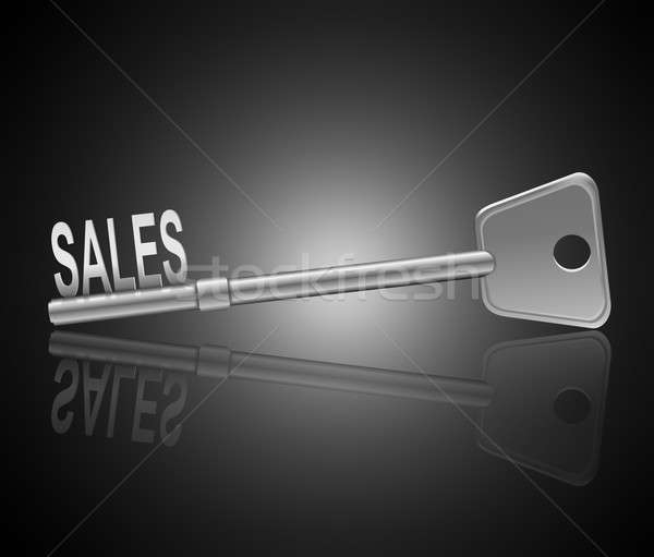 The key to sales. Stock photo © 72soul