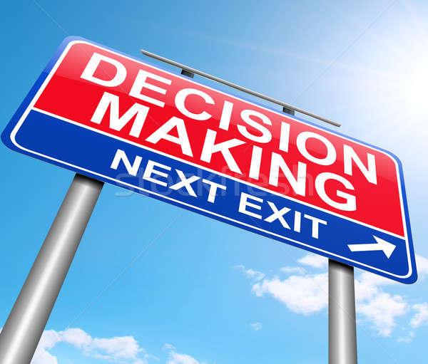 La toma de decisiones ilustración signo fondo gráfico senalización de la carretera Foto stock © 72soul