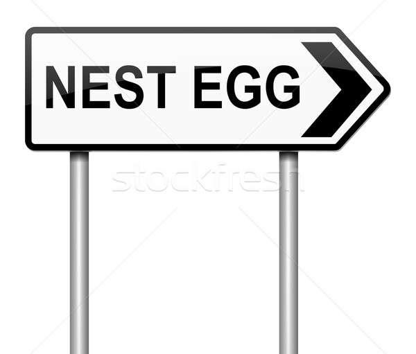 Nest egg concept. Stock photo © 72soul