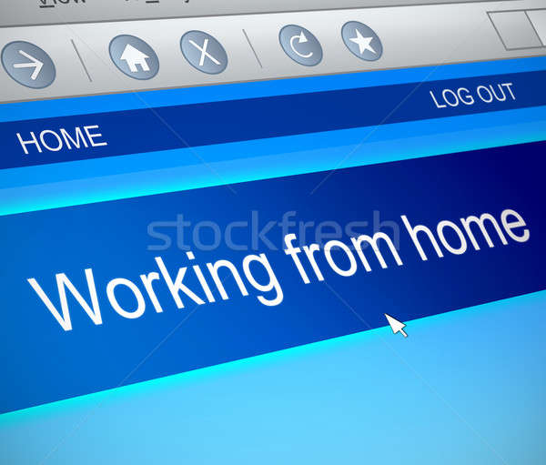 Working from home concept. Stock photo © 72soul