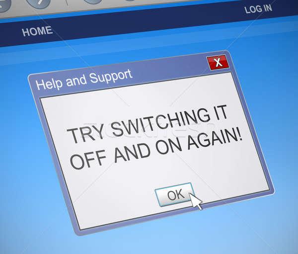 переключатель иллюстрация компьютер диалог окна Сток-фото © 72soul