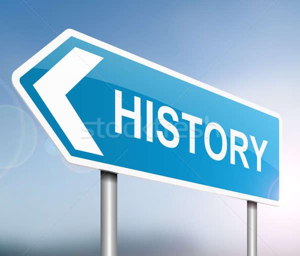 Történelem illusztráció felirat oktatás információ grafikus Stock fotó © 72soul