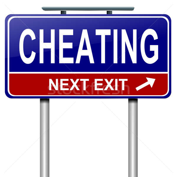 Stock photo: Cheating concept.