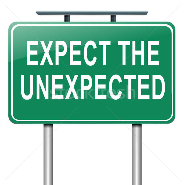 Expect the unexpected. Stock photo © 72soul