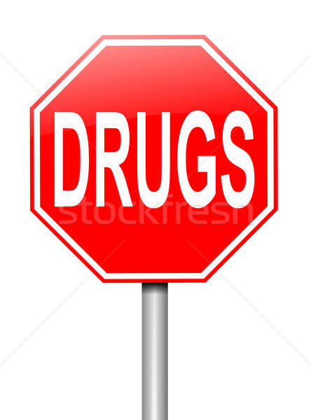 Illustration depicting a sign with a drugs concept. Stock photo © 72soul