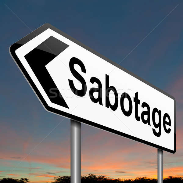 Sabotage concept sign. Stock photo © 72soul
