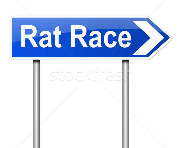 Rato raça ilustração assinar fundo executivo Foto stock © 72soul