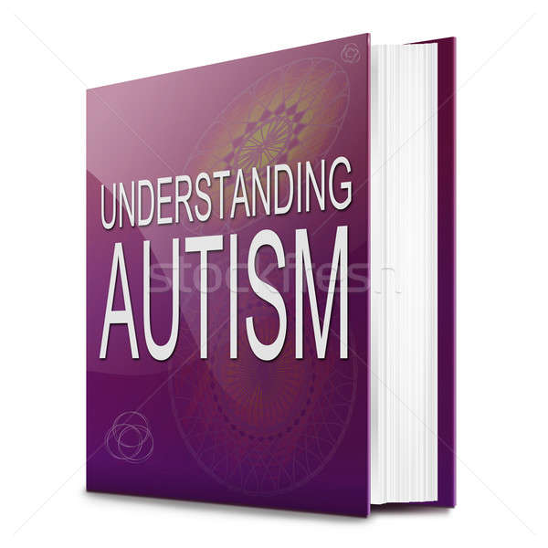 Autismus Illustration Text Buch Titel weiß Stock foto © 72soul