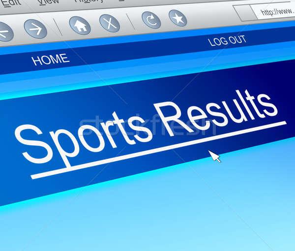 спортивных иллюстрация экране компьютера захват технологий Сток-фото © 72soul