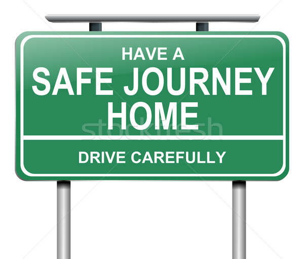 Drive safely sign. Stock photo © 72soul