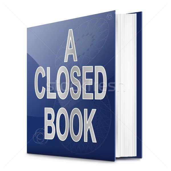 A closed book. Stock photo © 72soul