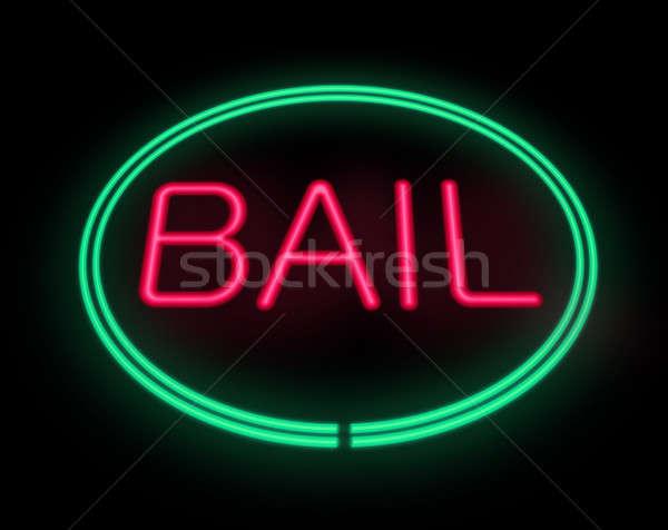 Borgtocht teken illustratie neon geld Stockfoto © 72soul